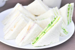 Baleron i serowa kanapka, gałęzatki kanapka Zdjęcia Royalty Free