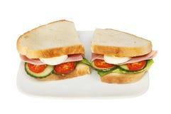 Baleron jajeczna kanapka Fotografia Royalty Free