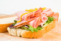 baleron kanapka Zdjęcia Stock