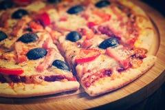 Baleron pizza obraz royalty free