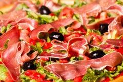 Baleron pizza Zdjęcie Stock