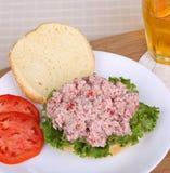 Baleron Sałatkowa kanapka Zdjęcia Royalty Free