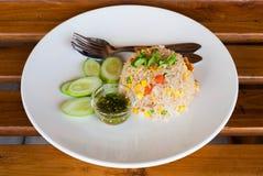 Baleron Smażący Rice Obrazy Royalty Free