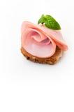 Baleron - uwędzeni mięso plasterki Zdjęcie Royalty Free