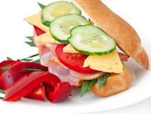 Baleron zdrowa kanapka Obraz Stock