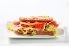 Baleronu i sera okrętu podwodnego kanapka obraz royalty free