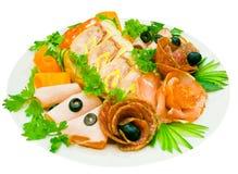 baleronu mięso więcej salami Fotografia Royalty Free