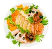 baleronu mięso więcej salami Zdjęcie Stock
