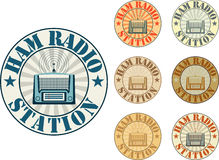 Baleronu radia stacja royalty ilustracja