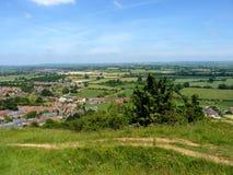 Baleronu wzgórza kraju park Somerset Obrazy Stock