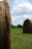 Between the bales Royalty Free Stock Images