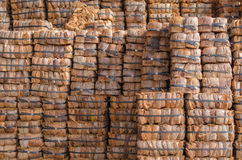 Bales of coconut shell. Stock Photography