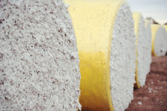 Bales of cotton in Oakey, Queensland Stock Photo