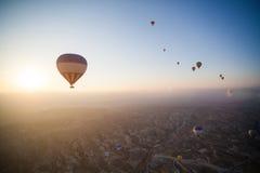 Balões de ar quente em Cappadocia Imagem de Stock