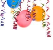 Balões e confetti Imagem de Stock
