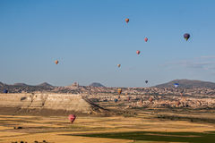 Balões em Cappadocia Foto de Stock Royalty Free