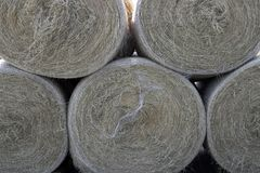 Bales of hay. Several large bales of hay stacked up Stock Photo