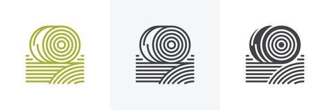 Bales of hay icon vector illustration