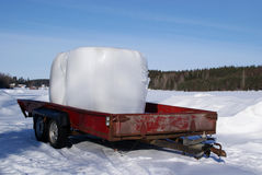 Bales On A Trailer