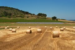Bales and panels Royalty Free Stock Photo