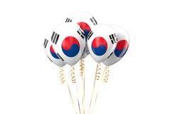 Balões patrióticos de Coreia do Sul, conceito holyday Imagem de Stock
