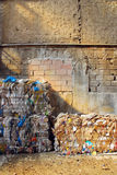 Bales of recycling paper Royalty Free Stock Photo