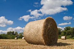 Bales of straw Royalty Free Stock Photos