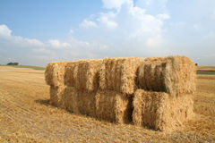 Bales of straw blue sky royalty free stock photos