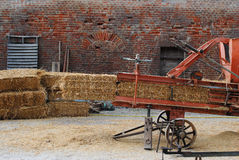 Bales of straw. Hay packing, traditional method Royalty Free Stock Photography
