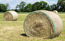 Bales of straw Royalty Free Stock Photography
