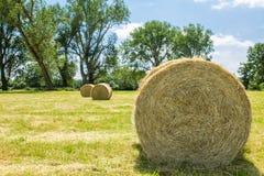 Bales of straw Royalty Free Stock Photos