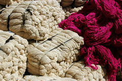 Bales of wool Stock Images