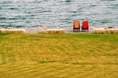 从Balestrand,挪威的看法 免版税库存照片
