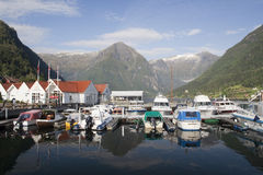 Balestrand,挪威, Sacndinavia 库存图片