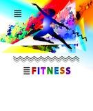 Baleta i sprawności fizycznej broszurki szablon z baletniczym tancerzem Zdjęcie Stock