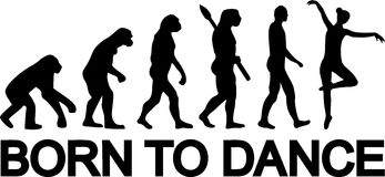 Baletnicza ewolucja Urodzona Tanczyć royalty ilustracja