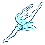baletnicza piękna tancerza projekta ilustracja royalty ilustracja