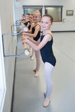 Baletnicza taniec klasa Zdjęcia Royalty Free