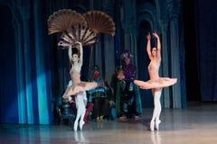 Baletniczego tancerza baleriny taniec podczas baletniczego Corsar Obrazy Stock