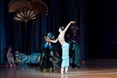Baletniczego tancerza baleriny taniec podczas baletniczego Corsar Zdjęcie Royalty Free