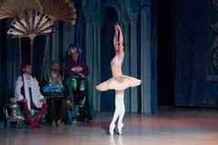 Baletniczego tancerza baleriny taniec podczas baletniczego Corsar Obraz Royalty Free