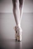 Baletniczego tancerza Pointe buty Obrazy Royalty Free
