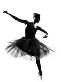 baletniczego tancerza tana skoku sylwetki kobieta Zdjęcie Royalty Free