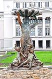baletniczej fontanny Latvia baletniczy krajowy boginki opery Riga teatr Fotografia Royalty Free