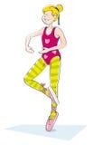 baletniczy ćwiczyć dziewczyny ilustracji