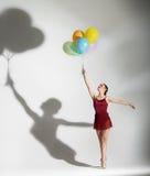 baletniczy ballons tancerza target2572_0_ Zdjęcie Stock