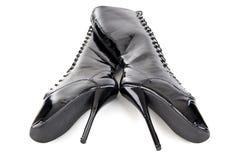 baletniczy czarny target91_1_ butów fotografia stock