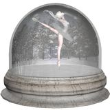 baletniczy snowglobe Fotografia Royalty Free