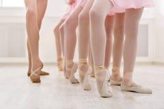 Baletniczy tło, młody balerin trenować Fotografia Royalty Free