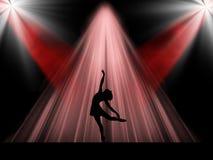 Baletniczy tancerz na scenie Obrazy Stock